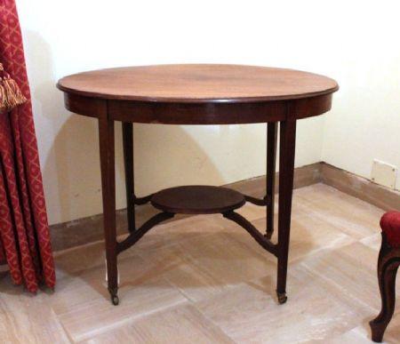 Tavolo Ovale Inglese Antiquariato Su Anticoantico