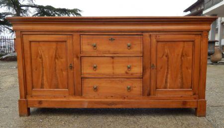 Credenza in ciliegio con cassetti centrali antiquariato su - Stima mobili antichi ...