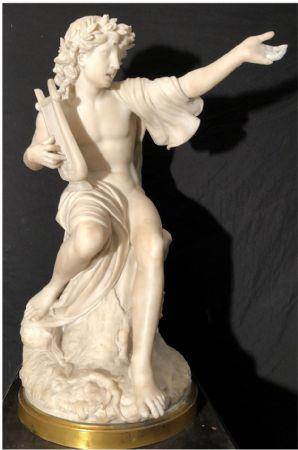 """Scultura in marmo bianco statuario """"Apollo"""" epoca primi dell'ottocento"""