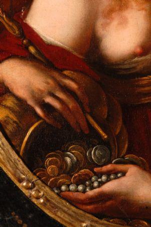 Ritratto di un nobile ecclesiastico con lettera, olio su tela attribuito a NICOLA GRASSI (Formeaso 1682 - Venezia 1748)