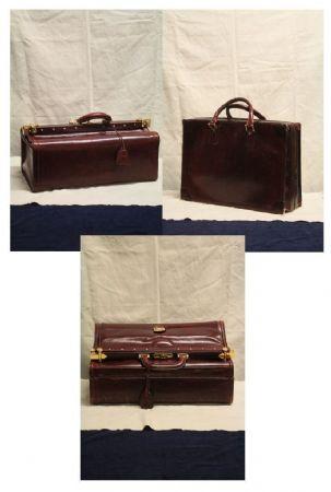 Gruppo di 3 pregiate valigie vintage, realizzate a mano
