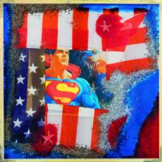 Omar Ronda (1947) American frozen, 2006, plastic + foto cm. 70x70