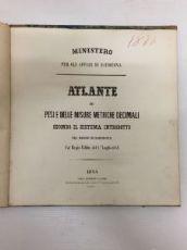 Atlante dei pesi e delle misure metriche decimali, 1844