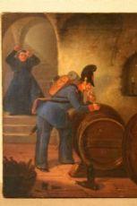 PICCOLO QUADRO AUSTRIACO DIPINTO AD OLIO PRIMA TELA - FIRMATO E DATATO 1842  - ALT.34,5CN LARG.27CM