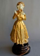 oro e bronzo avorio statuetta