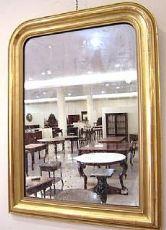 Cadre doré de miroir français