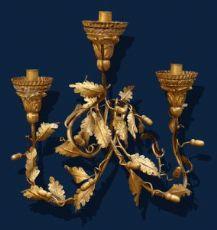 XIX secolo, Applique, Metallo dorato, h. cm 42