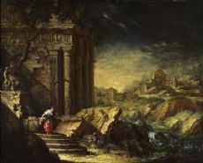 Джузеппе Антонио Пьянка - Архитектурное Каприччио с классическими руинами