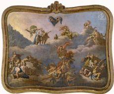Giuseppe Valeriani (Roma, 1708? – San Pietroburgo, 1762) - L'Apoteosi dell'eroe
