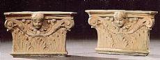 2 di 7 Capitelli corinzi in terracotta