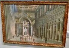 """Aquarelle Gaetano Boni """"Saint-Paul"""" à Rome en 1821"""""""