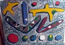 splendido dipinto di arte contemporanea