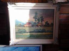 Paesaggio a olio di Ermes Cristofori