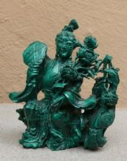Statuetta in Malachite.