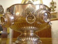 Champagne ciotola secchio cocktail nel periodo in argento placcato Vittoriano