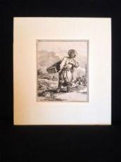 Jean-Baptiste Le Prince, incisione originale, 1765