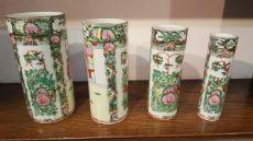 4 vasi in porcellana cinese