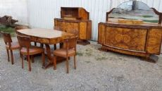 from full dining room table, 6 chairs, nr 2 belief vintage art deco dining room 40 years in 1900