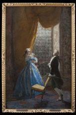 Dipinto di Mosè Bianchi(Monza 1840-1904)