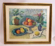 Dipinto Epifanio Pozzato. Natura Morta con Frutta