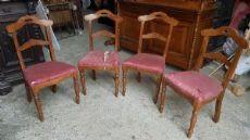quattro sedie antiche piemontesi in ciliegio massello metà 1800 Sec. XIX
