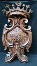 浮雕雕刻核桃和黄金凸显 - 过时1736  - 宝缇代Fantoni的贝加莫(ATTR)。