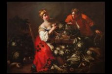 Francesco Polazzo (Venice 1683-1753) greengrocer and young aide