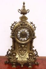 Splendido orologio in bronzo napoleone III 1850 - 1880 / parigina / antico.