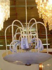 dos candelabros de Murano pulegoso 1930