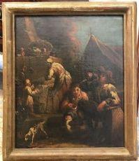 Пьемонтский художник bambocciate пара, восемнадцатого века