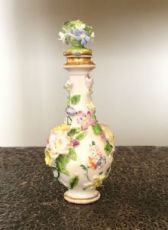 Portaprofumo bouteille avec incrustations florales