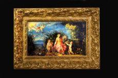 CAPOLAVORO - ALLEGORIA DEGLI ELEMENTI- olio su tavola di JAN BRUEGEL detto IL VECCHIO o DEI VELLUTI (Bruxelles, 1568 - Anversa, 1625)