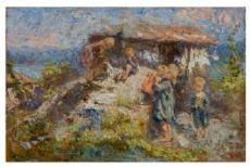 Leonardo Bazzaro Nidiola alpestre, 1915-1920