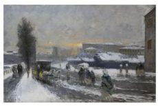 Mosè Bianchi Neve a Milano, 1895