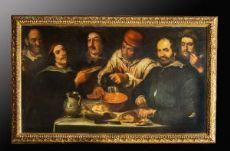 CAPOLAVORO - IL CONVIVIO - olio su tela di BARTOLOMEO PASSEROTTI (Bologna, 1529 - ivi, 1592)