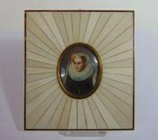 Miniatura dipinta su avorio, '800