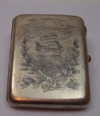 Portasigarette in argento niellato