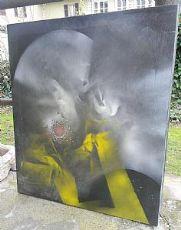 """dipinto su tela Vittorio Garbaccio """"La porta"""""""