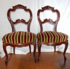 coppia di eleganti sedie del 1800