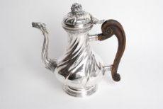 Caffettiera in argento Genova 1772