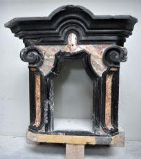 Tabernacolo in marmo Nero del Belgio