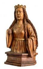 Un legno intagliato busto femminile. circa 1500