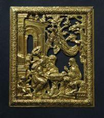 Placca in bronzo dorato