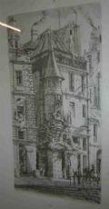 "Gravure estampe originale signée Charles Méryon""Rue de la Tixéranderie"""