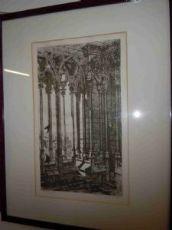 """Gravure originale signée Charles Méryon"""" La Galerie Notre-Dame"""""""