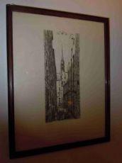 """Gravure originale signée Charles Méryon""""Rue des Chantres"""""""