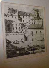 "Gravure originale signée Charles Méryon""Quais de Seine"""