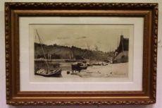 Важно красивые обрамлении чернила на бумаге, подписанной Франсуа Бонвен Лондон 1873