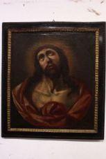 Grande splendido cristo, dipinto del '600 con cornice / painting / antique / old / XVII
