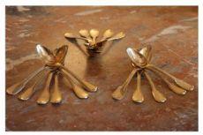 candelieri in bronzo dorato